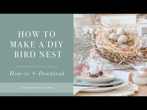 How To Make A DIY Bird Nest, Spring Table Centerpiece Idea with Bird Nest Decor DIY