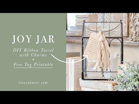 Create A Joy Jar And DIY Shabby Chic Tassel