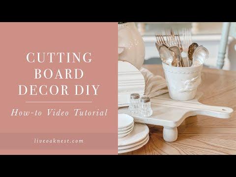 Cutting Board Decor DIY, French Cottage Farmhouse Wood Riser DIY