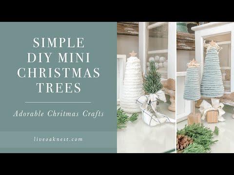 DIY Mini Christmas Trees, Door Knob Bottle Brush Trees, Cone Christmas Tree Craft