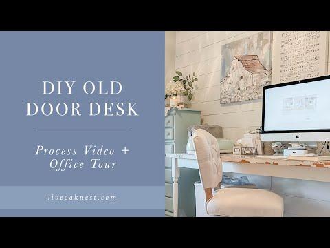 Old Door Desk, Pretty Home Office Ideas