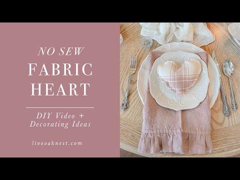 DIY No Sew Fabric Heart, Valentines DIY Home Decor