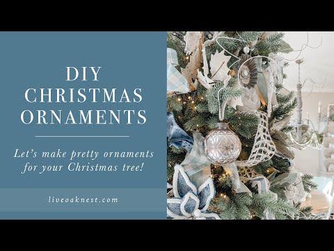 DIY Christmas Ornaments, Pretty Christmas Ornaments, Cottage Farmhouse Christmas Decor