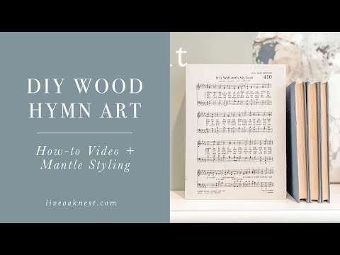 It Is Well Home Decor, DIY Christian Home Decor With Hymns