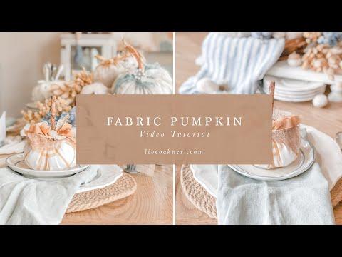 How to Create a Fabric Pumpkin DIY Fall Craft