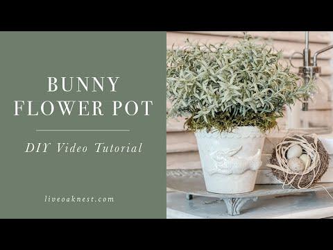 Bunny Decor DIY, Spring Home Decor Craft and DIY Terracotta Pots