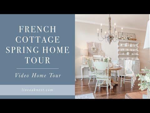 French Cottage Spring Home Tour, Cottage Farmhouse Spring Home Decor Ideas
