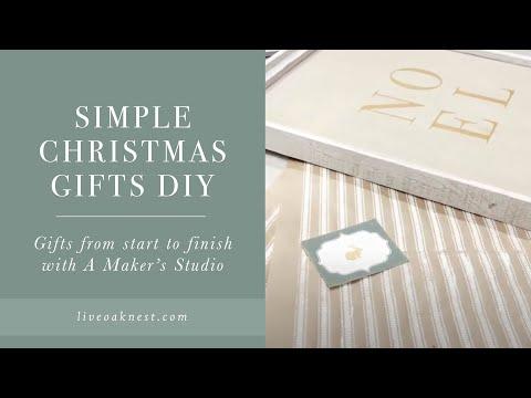 Simple Christmas Gift DIY, A Maker's Studio, Mesh Stencil, Gel Art Ink