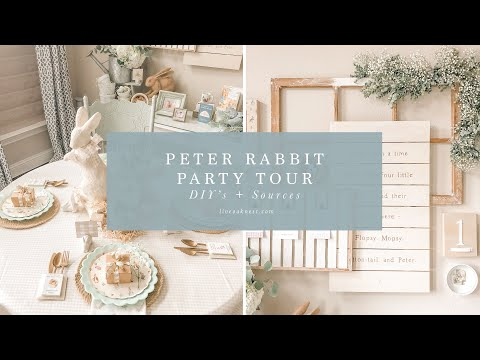 Peter Rabbit Birthday Party Decor Tour