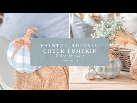 Paint A Buffalo Check Pumpkin For A Fall Craft