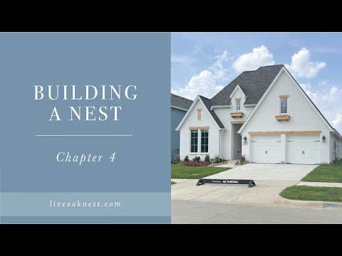 Building A Nest Chapter 4, Cottage Farmhouse, White Brick Farmhouse with White Trim and Cedar Beams