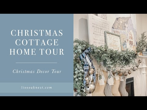 Christmas Cottage Home Tour, Christmas Home Decor Tour, French Cottage Farmhouse