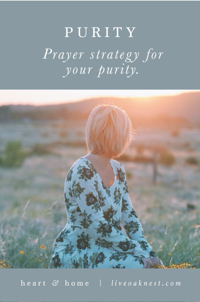 prayer strategy for purity from the book Fervent by Priscilla Shirer