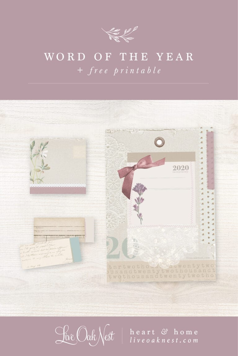 Word of the Year + Free Printable