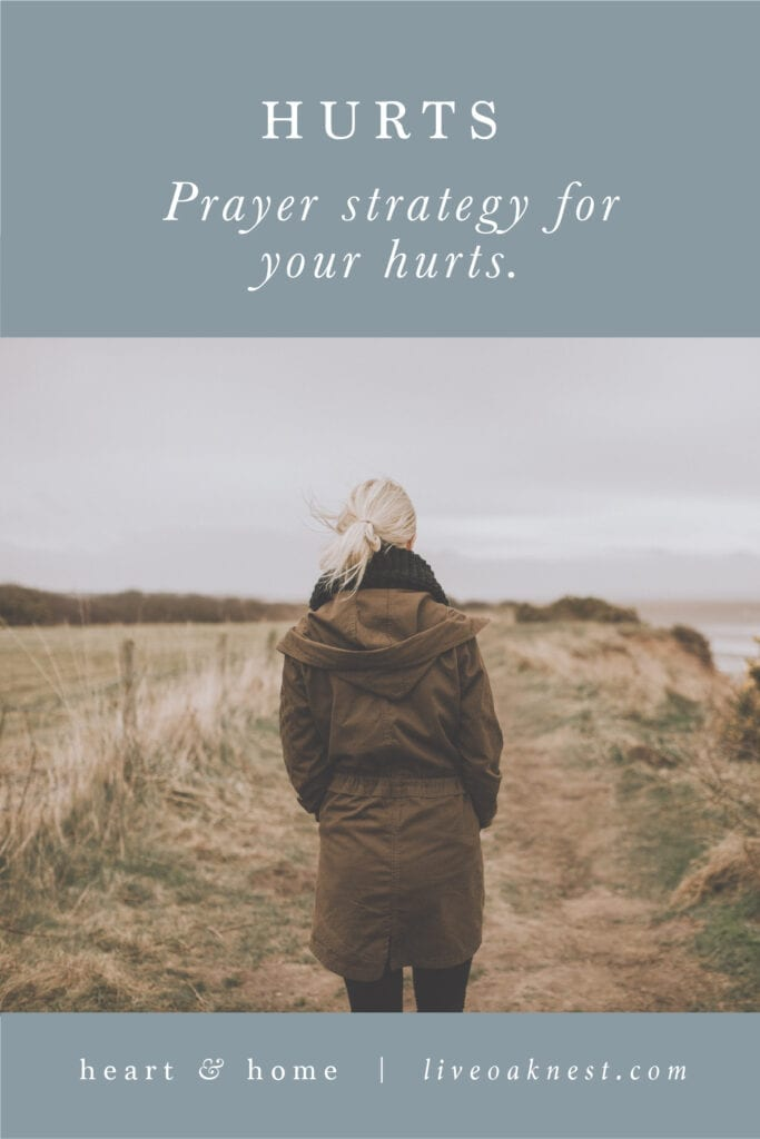 Prayer Strategy for Hurts from the book Fervent by Priscilla Shirer