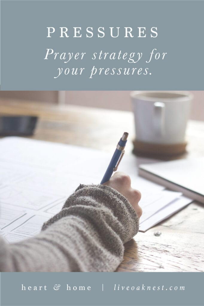 Prayer Strategy for Pressures from the book Fervent by Priscilla Shirer