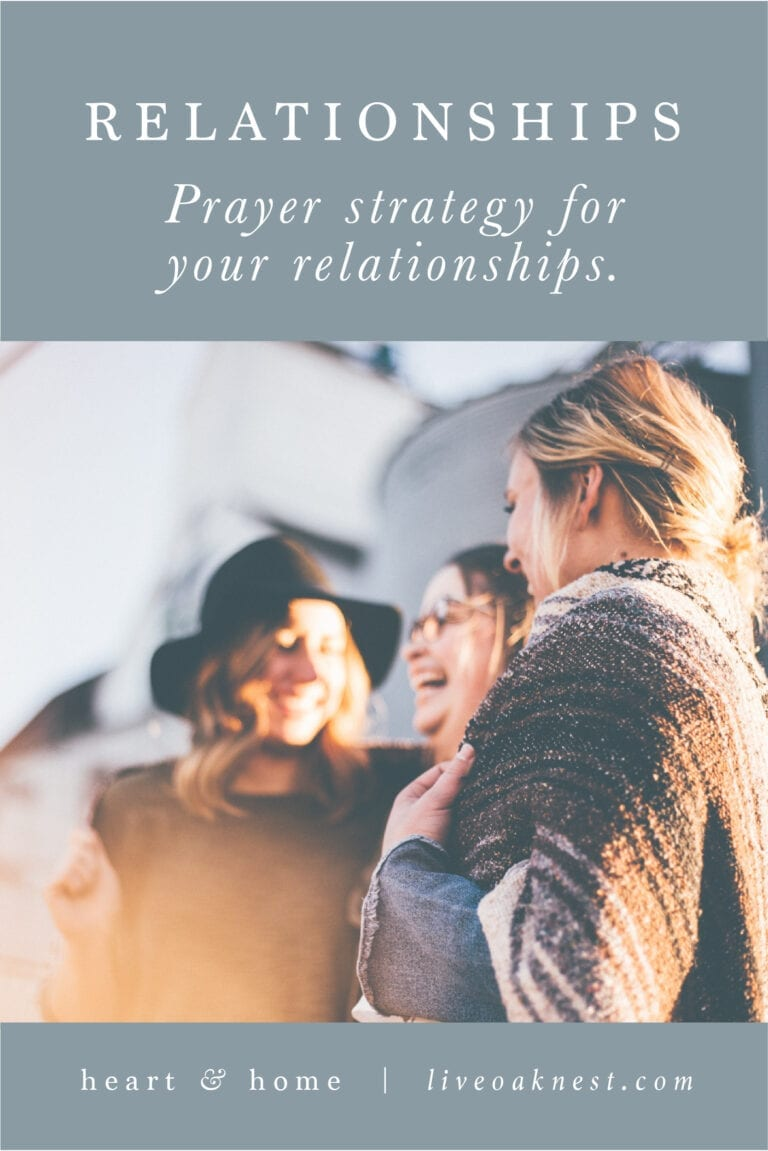 Prayer Strategy for Relationships