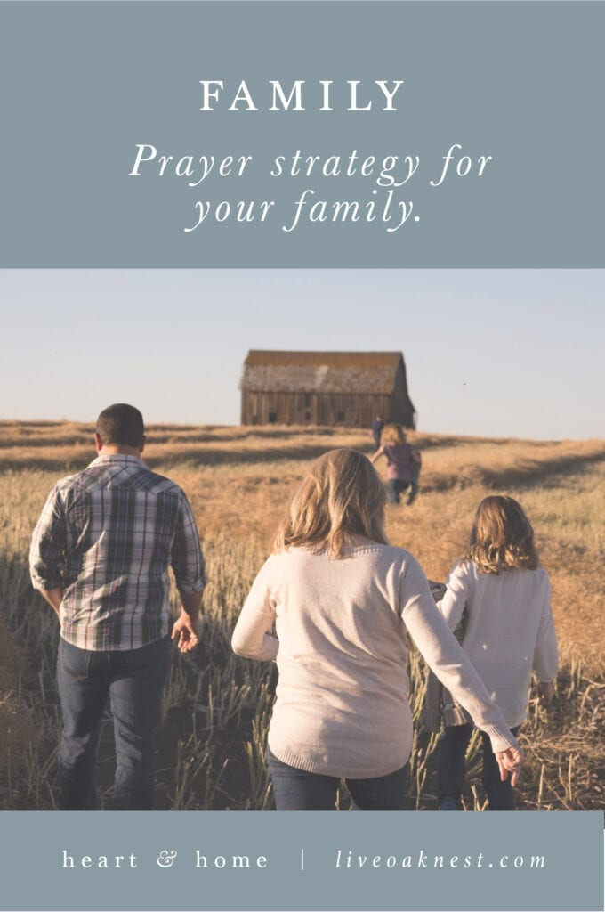 Prayer Strategy for Family from the book Fervent by Priscilla Shirer