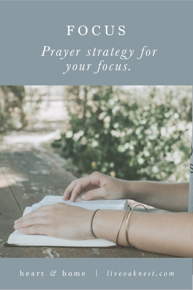 Prayer Strategy for Focus
