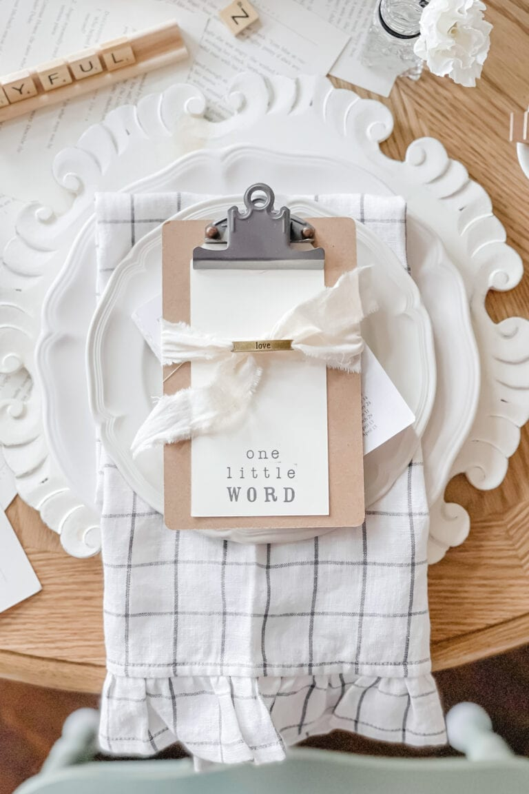 Word of the Year Tablescape