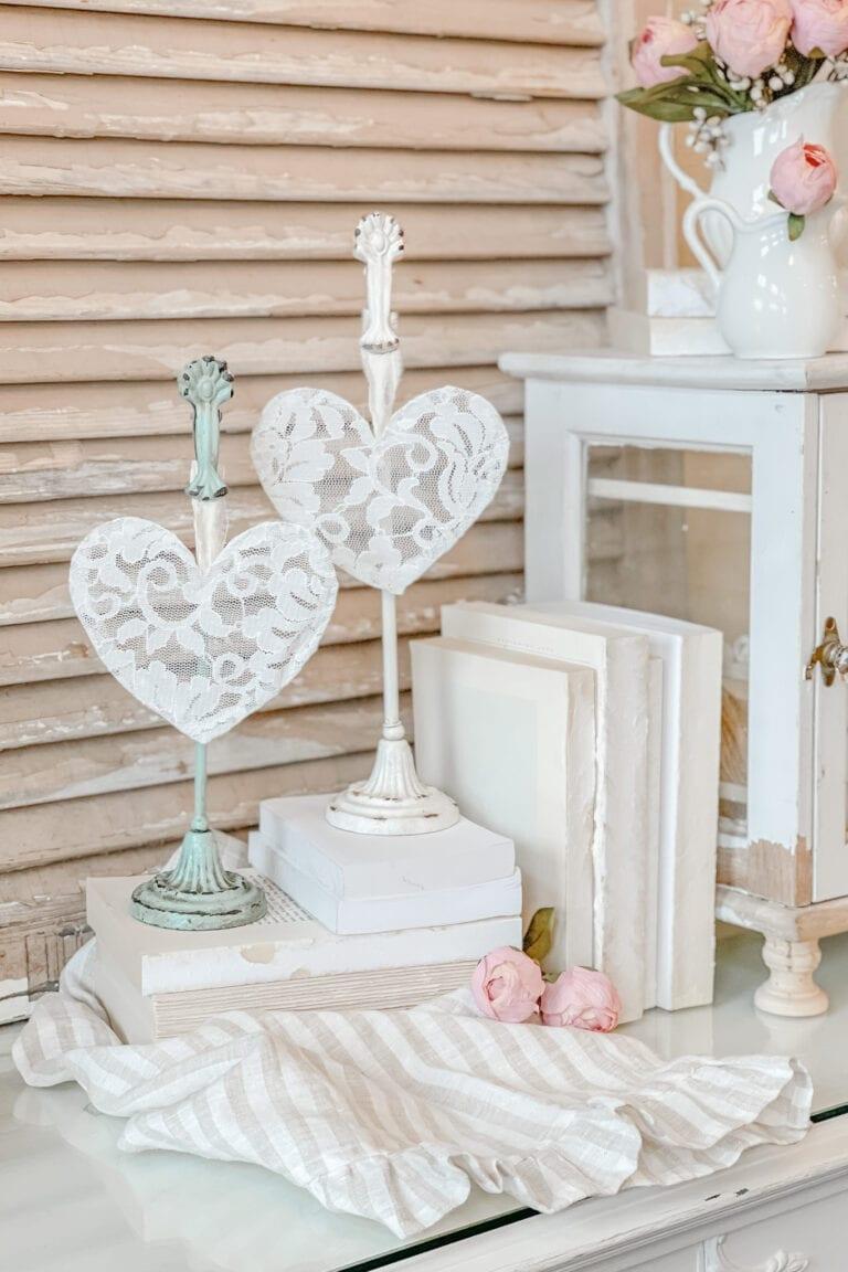 DIY Shabby Chic Lace Heart