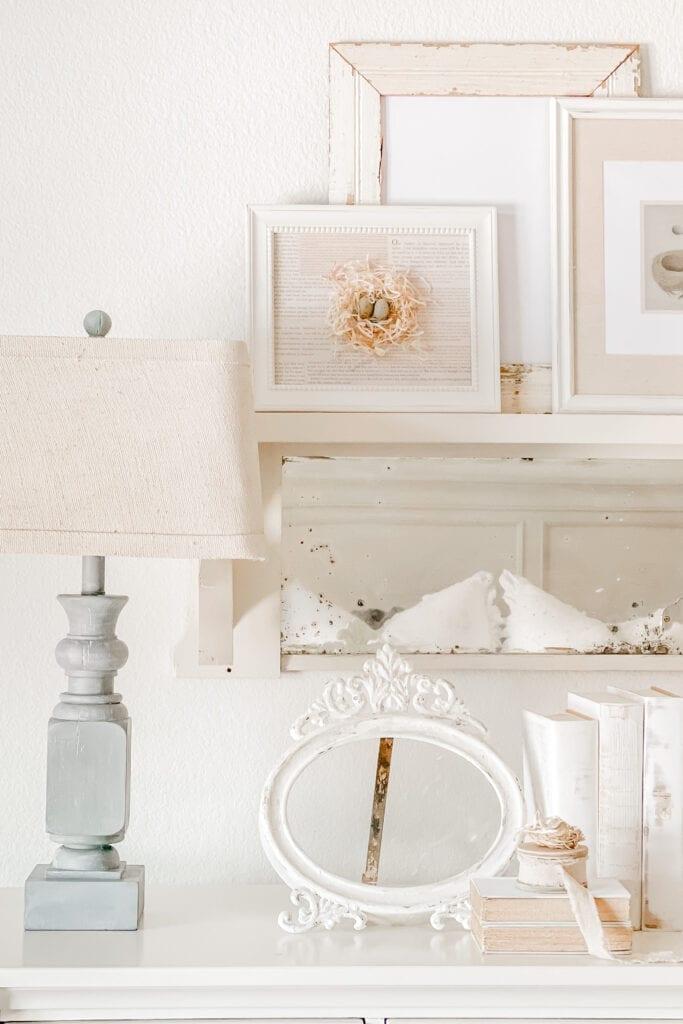Cottage Home Decor Ideas, Bird Nest Art and Craft, Layered Wall Art from Live Oak Nest www.liveoaknest.com