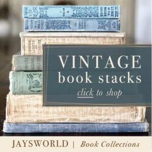 Jaysworld Vintage Books, Antique Book Stacks, Color Coordinated Books