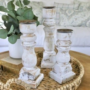 Chippy Candle holders from Antique Farmhouse