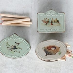Bird Container from Antique Farmhouse