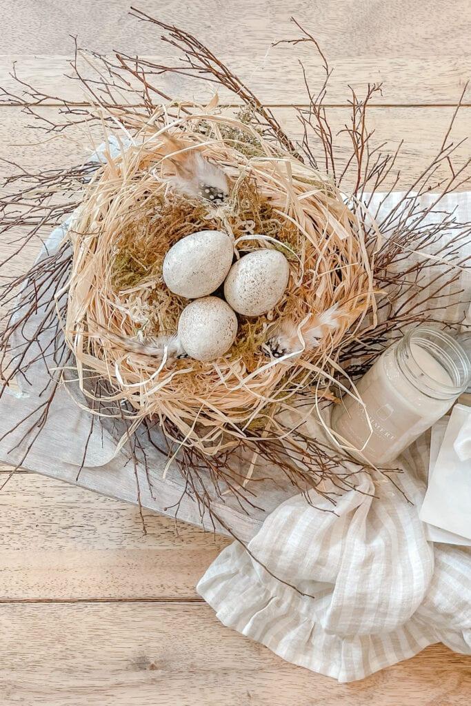 How to Make a DIY Bird Nest, Large Bird Nest Decor, DIY Bird Nest Craft, DIY Bird Nest Tutorial from Live Oak Nest www.liveoaknest.com