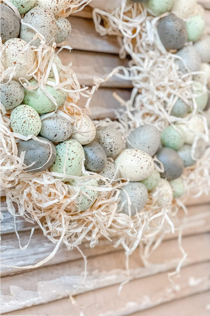 Speckled Egg and Moss Spring Wreath from Live Oak Nest www.liveoaknest.com