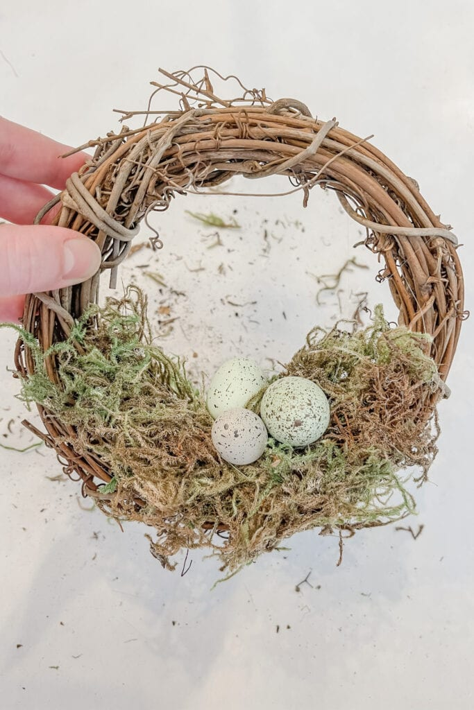 Small Spring Wreath, Grapevine Wreath, Speckled Eggs from Live Oak Nest www.liveoaknest.com