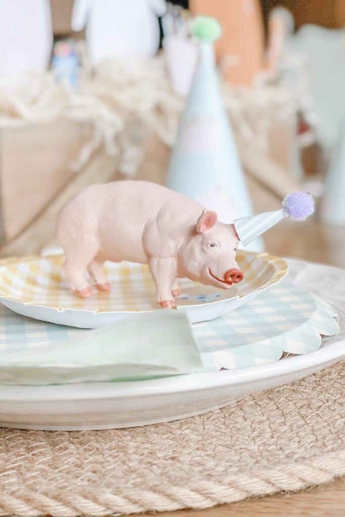Mini Party Animal Hat, Party Animal Theme Party Ideas, Farm Animal Party, Twin Birthday Party, Boy Girl Birthday Party, BG Birthday Party from Live Oak Nest