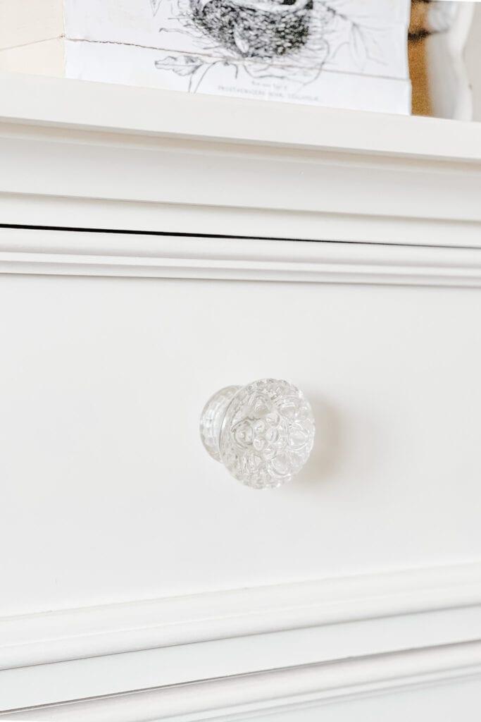 Chunky Glass Drawer Knobs from Live Oak Nest www.liveoaknest.com