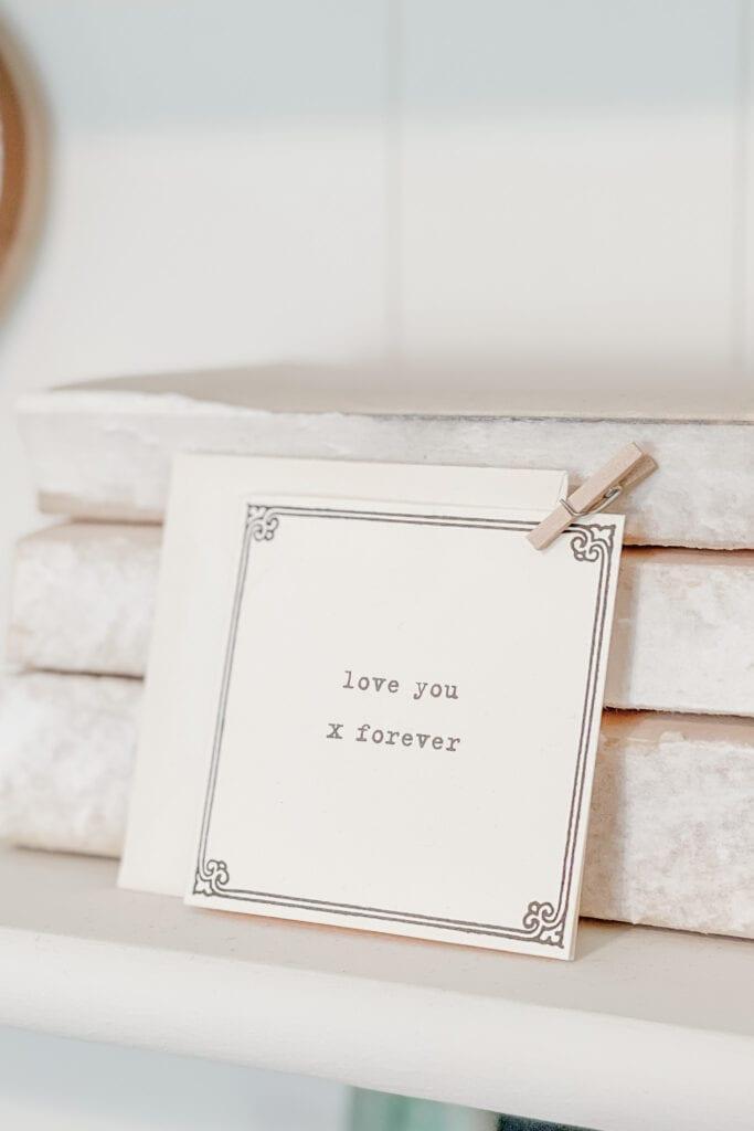 Love You Forever Card from Live Oak Nest www.liveoaknest.com