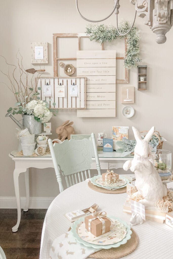 Peter Rabbit Party Theme, Peter Rabbit Birthday, Gender Neutral Party, Twin Birthday Decor from Live Oak Nest www.liveoaknest.com