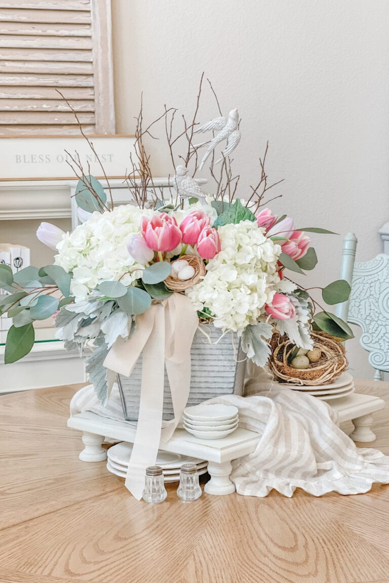 Spring Floral Table Centerpiece