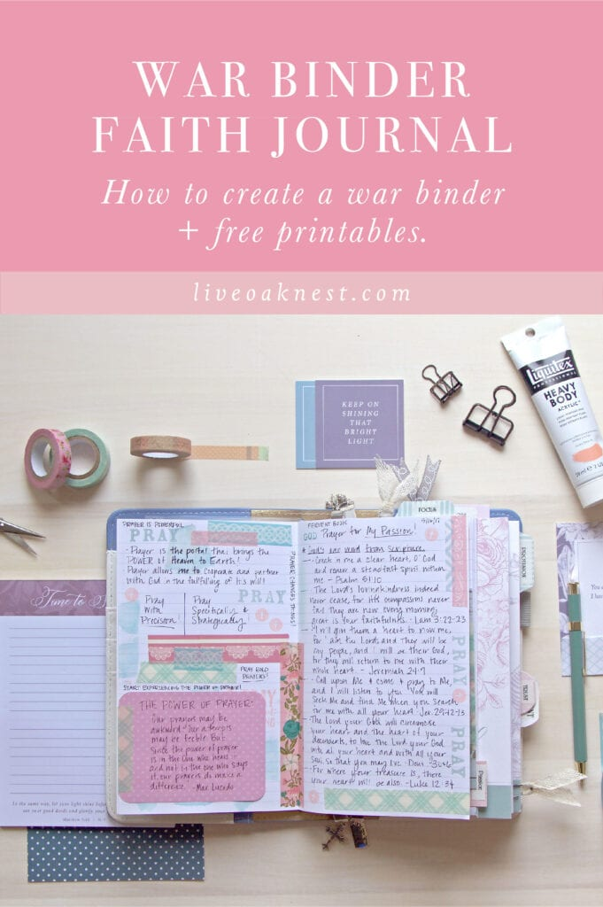 What is a War Binder and How do I create one? Faith Journal, prayer journal from Live Oak Nest www.liveoaknest.com