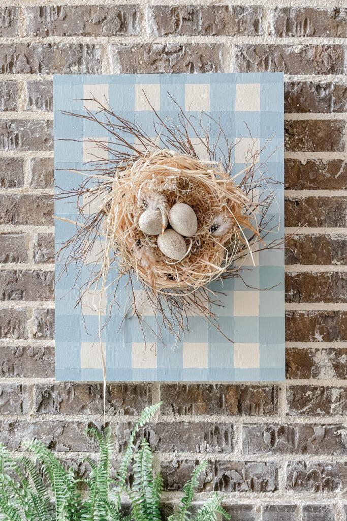 French Cottage Farmhouse Live Oak Nest Large Bird Nest wall art