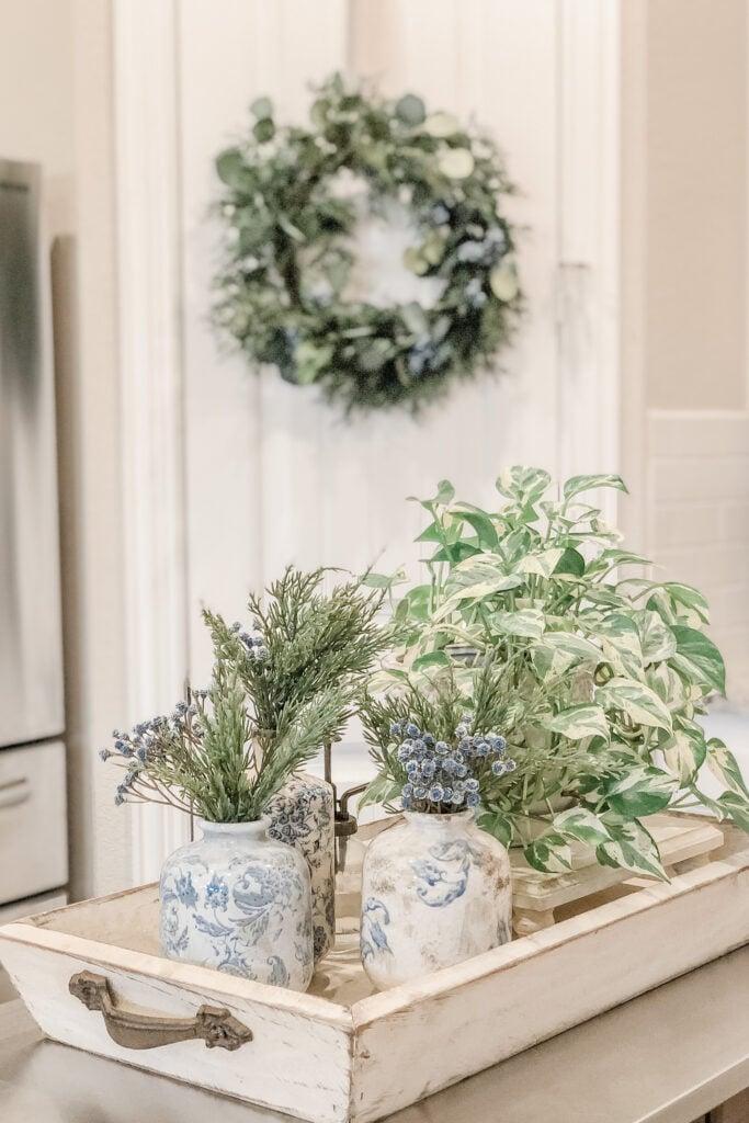 Christmas Kitchen Decor from Live Oak Nest, French Cottage Farmhouse