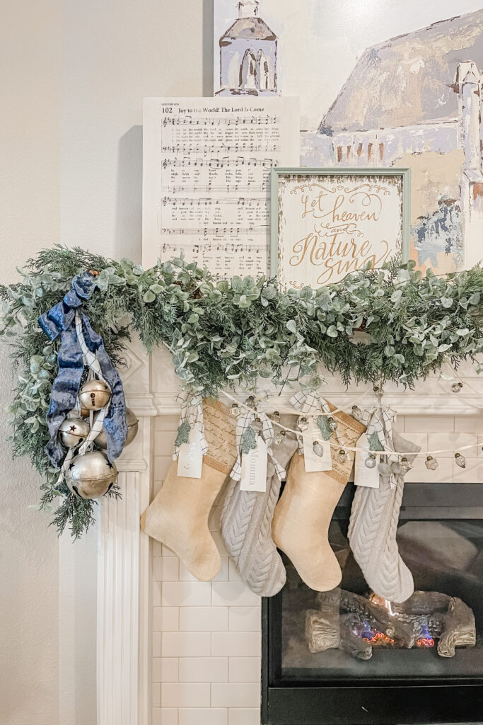 Christmas Mantle Decor, Christmas Mantle Inspiration from Live Oak Nest, French Cottage Farmhouse