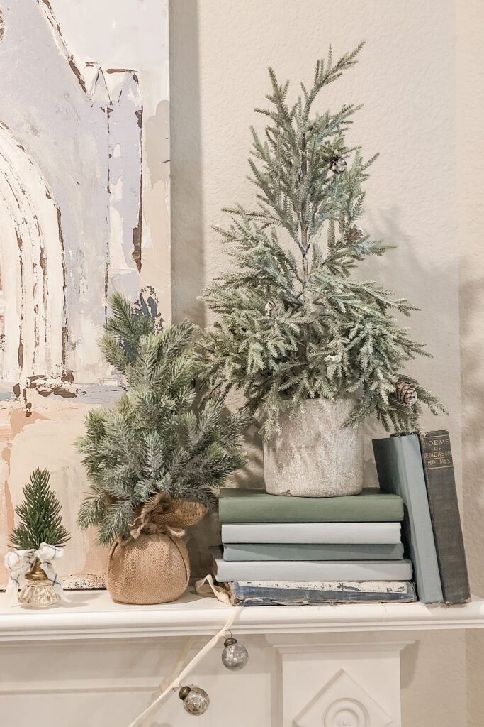Christmas Mantle Decor from from Live Oak Nest, French Cottage Farmhouse