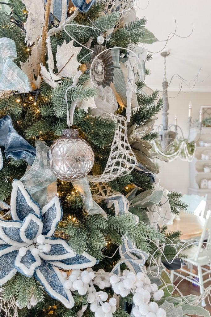 DIY Mercury Balls, DIY Mercury Ornaments, DIY Christmas Ornaments, Tart Tin Ornaments from Live Oak Nest, French Cottage Farmhouse