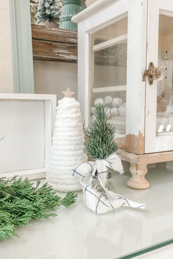 Mini Christmas Tree, Vintage Door Knob Christmas Tree from Live Oak Nest, French Cottage Farmhouse