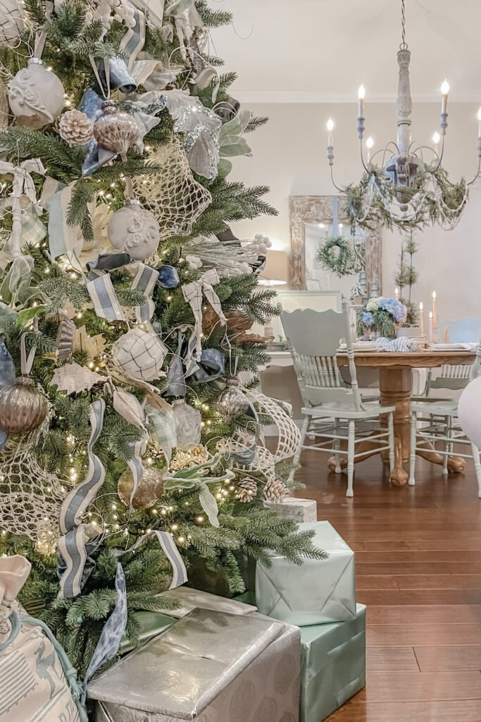 DIY Christmas Ornaments, Blue Christmas, Christmas Tree Decor, Christmas Tree Decorations from Live Oak Nest, French Cottage Farmhouse