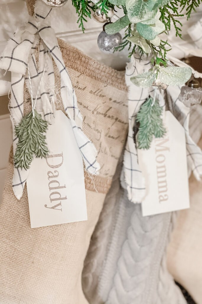 DIY Stocking Tags from Live Oak Nest, French Cottage Farmhouse