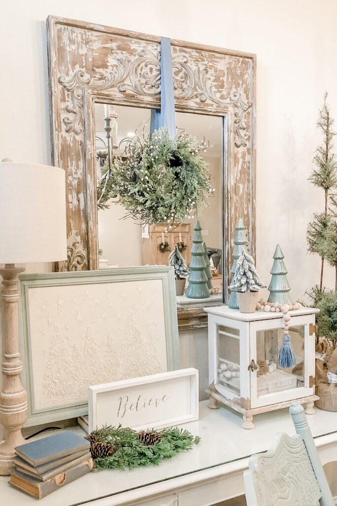 Christmas Buffet Decorations from Live Oak Nest, French Cottage Farmhouse