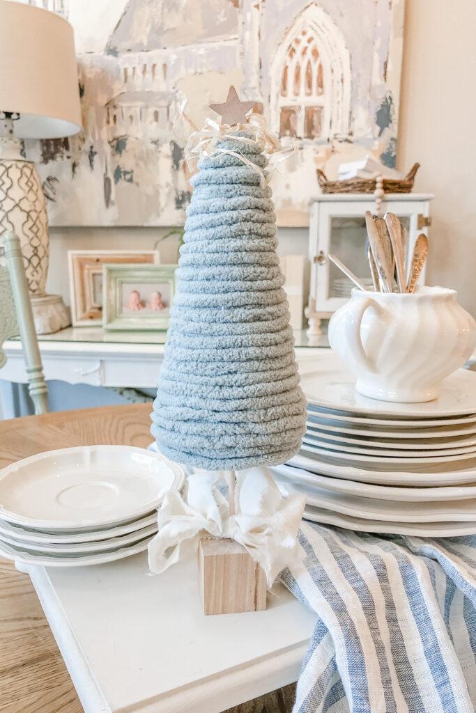 DIY Mini Christmas Tree Craft, Yarn Christmas Tree, Cone Christmas Tree Craft,