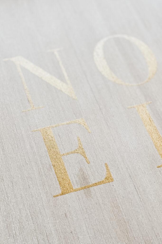 Wood Sign using A Maker's Studio Stencils, Simple Christmas Gifts DIY from Live Oak Nest www.liveoaknest.com
